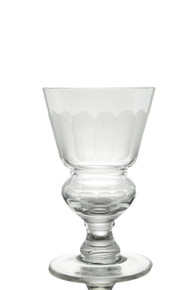 Pontarlier Absinthe Glass, Frosted Facet Cuts B-Stock