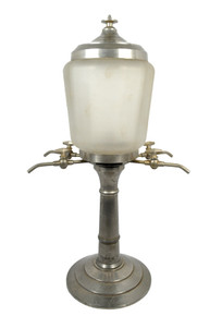 Antique JR Fountain, with Frosted Globe