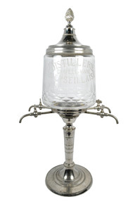 Antique Absinthe Fountain, Pineapple Style with Glass Acid Etching