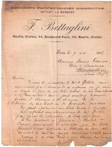 F. Bettaglini Letter