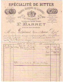 F. Barret Invoice