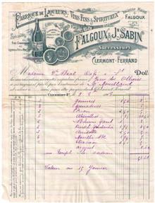 Falgoux & Sabin Invoice