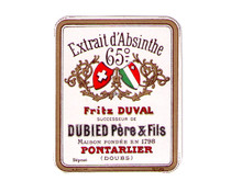 Antique Duval Mignonette Absinthe Bottle Label, 65 Degree