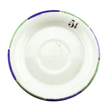 Antique Absinthe Saucer/Coaster, Green & Blue Rim 5f