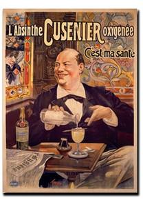 Absinthe Oxygenee Cusenier Note Card