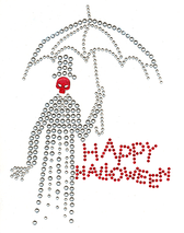 Ovrc1562 - Happy Halloween Skeleton with Umbrella - ON SALE!