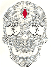 Ovrc1701 - Red Diamond Skull