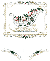 Ovrs930 - Christmas Sleigh with Accent Pieces