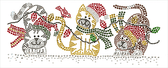 Ovrs1550 - 3 Christmas Cats