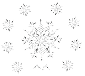 Ovrs1657 - Small Snowflakes Surround Large Snowflake