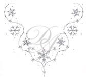 Ovrs5135 - Snowflakes V-neckline
