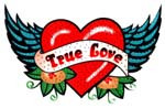 Ovrs3028- Small True Love Heart with Wings - ON SALE!