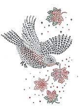 Ovrs1530 - Hummingbird with Leaves - ON SALE!
