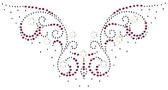Ovrg913 - Pink Swirls Pearl Round Neckline - ON SALE!
