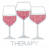 Ovrs2012 - Therapy with 3 Wine Glasses - ON SALE!