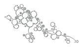 Ovrg001 - Glitter Circles on a Vine