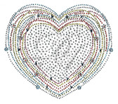 Ovrs4996 - Multi Color Outline Heart
