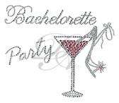 Ovrs3702 - Bachelorette Party w/Martini Glass and High Heel Sandal