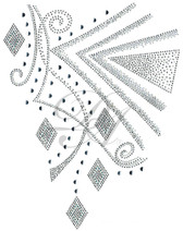 Ovrs7214 - Geometric Swirls and Diamonds Decor Design