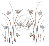 Ovrs1647B - Butterflies and Weeds Decor