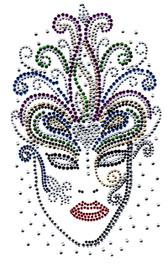 Ovrs2041 - Mardi Gras Mask