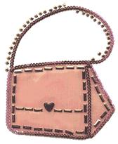 OvrL112 -  Pink Sequins Purse