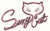 OvrL132 -  Sequin Sexy Cat