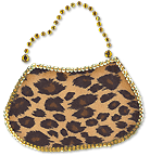 OvrL305 -  Cheetah Print Sequins Purse