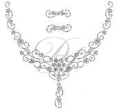 Ovrs7354 - Mini Flowers w/ Swirls Round Neckline