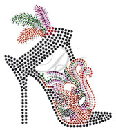Ovrs5904 - Mardi Gras High Heel