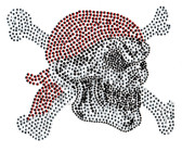 Ovrs1299 - Pirate Skull with Bones Crossed
