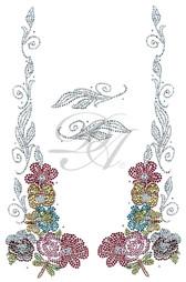 Ovrs7124 - Floral 4 Piece Decor Set