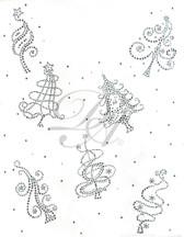Ovrs5354 - Mini Christmas Trees Full Frontal Design