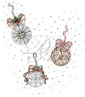 Ovrs5358 - Vintage Christmas Ornament Full Frontal Design