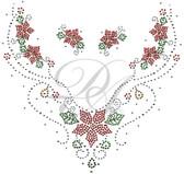 Ovrs5381 - Poinsettia V Neckline