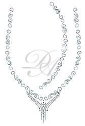 Ovrs1443 - Diamond S Line Neckline for Tunic