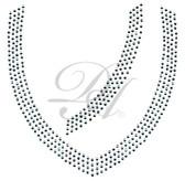 Ovrs1444 - 4 Row V-Neckline for Tunic