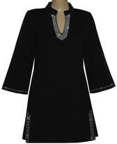 Style # 1411 - Black w/Design #:  Ovrs1491 (Neckline), Ovr32L (Cuff) & Ovrs721 (Slit)