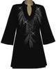 Style # 1411 - Black w/Design #:  Ovrs5173 (Neckline)