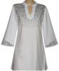 Style # 1411 - White w/Design #:  Ovrs1257 (Shoulder, Cuffs & Slits) - Option 2