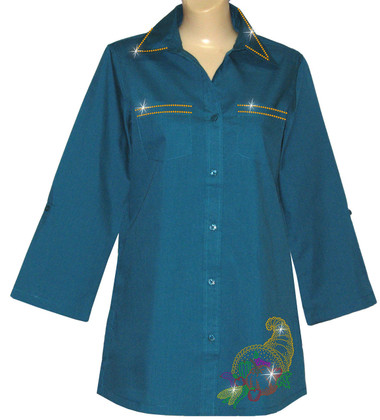 Style # 2004 - Teal w/ Design # Ovrs4697 (Bottom) & Ovr32L (Orange)