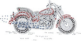 Ovrs517 - Large Motorcycle in Red - ON SALE!