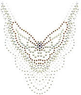 Ovk490 - Abstract Pearl V- Neckline - ON SALE!