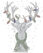 Ovrs5363 - Reindeer with Christmas Lights