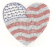 Ovr72 - Americana Heart - ON SALE!