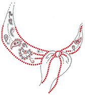 Ovrs1958 - Black & Red Scarf Round Neckline