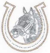 Ovrs306 - Horse Shoe with Horse Head
