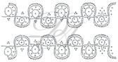Ovrs5109 - Intertwined Curvy Line Decor