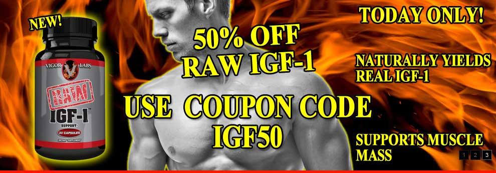 IGF1 50% OFF TODAY!