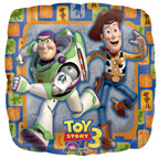 """Toy Story 3 18"""" Group Square Foil Balloon"""